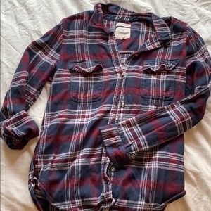 Blue and maroon flannel!